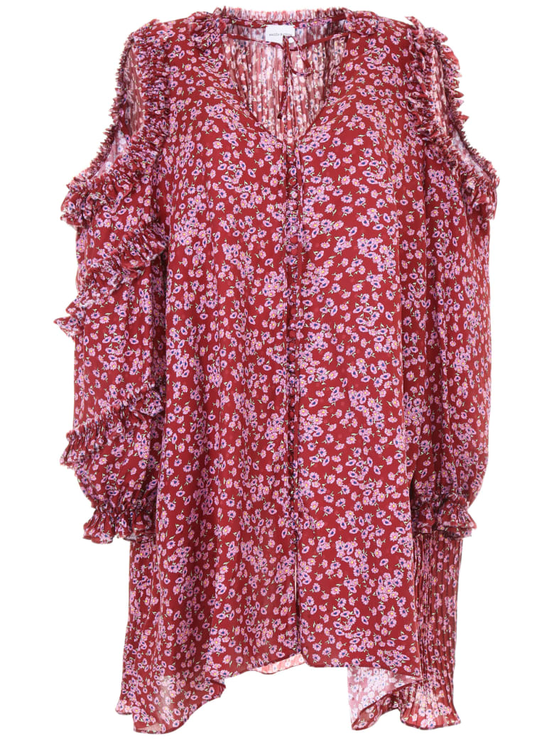 Magda Butrym Printed Zagreb Dress - BORDEAUX (Red)