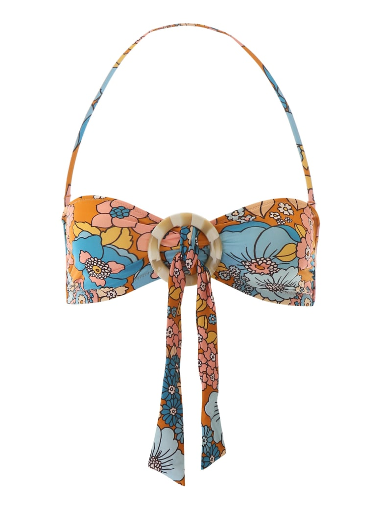Dodo Bar Or Floral Bikini Top - BROWN (Brown)