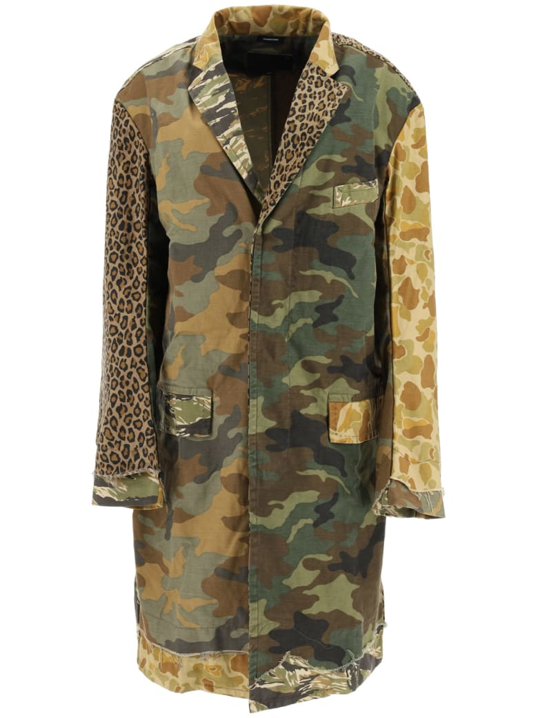 R13 Shredded Camouflage Coat - MULTI CAMO (Green)