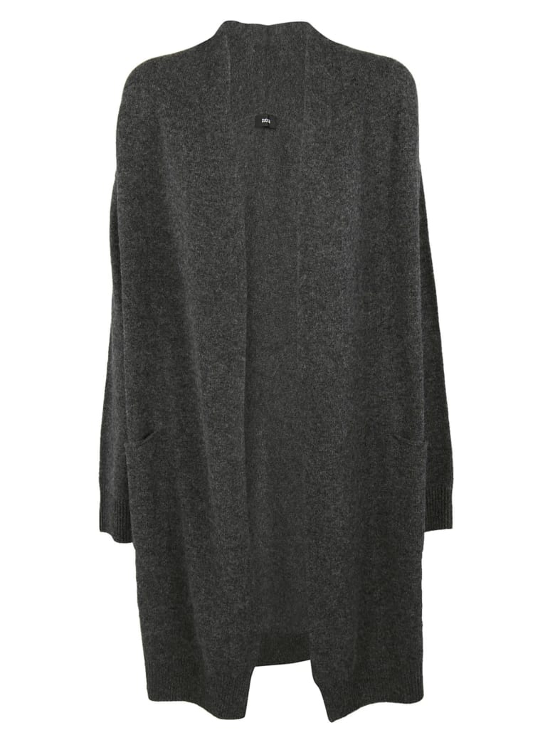 Zucca Open Front Cardigan - Charcoal