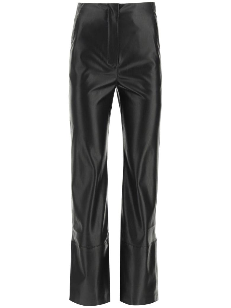 Nanushka Rhyan Trousers In Vegan Leather - BLACK (Black)