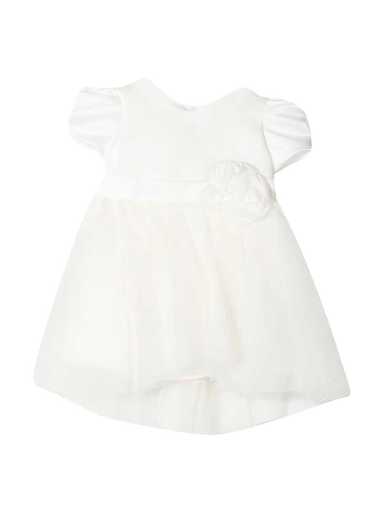 Monnalisa Monnalisa White Dress - Panna