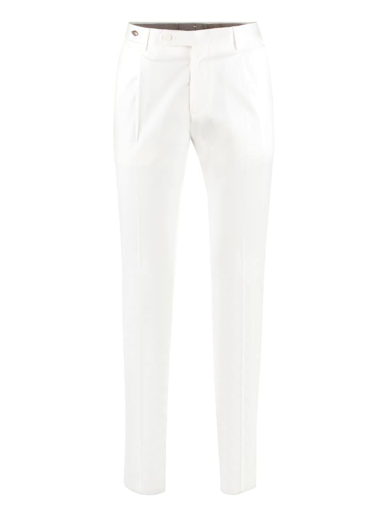 Tagliatore Stretch Cotton Trousers - White