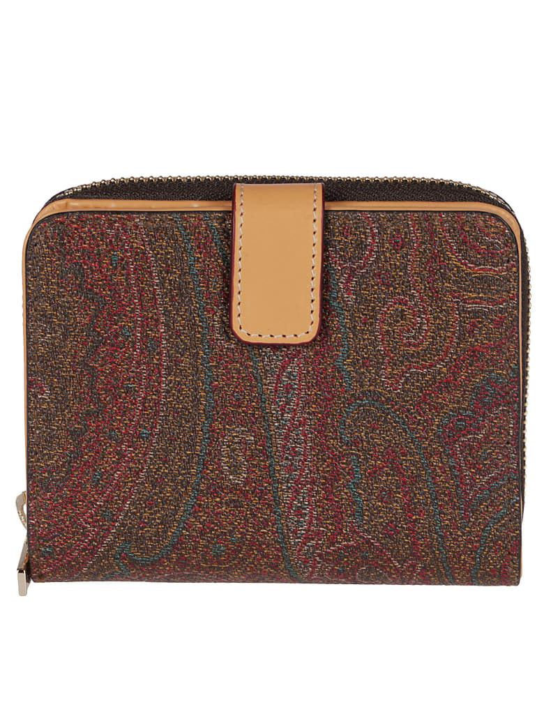 Etro Multicolor Canvas Wallet