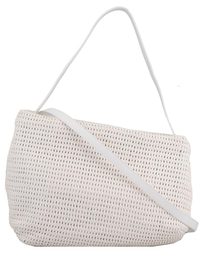 Marsell Leather Shoulder Bag - WHITE