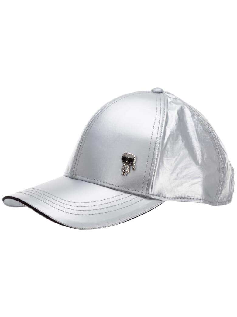Karl Lagerfeld K/ikonik 3d Baseball Cap - Argento