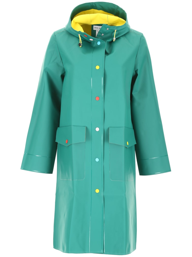 Mira Mikati Raincoat With Buttons - GREEN YELLOW (Green)