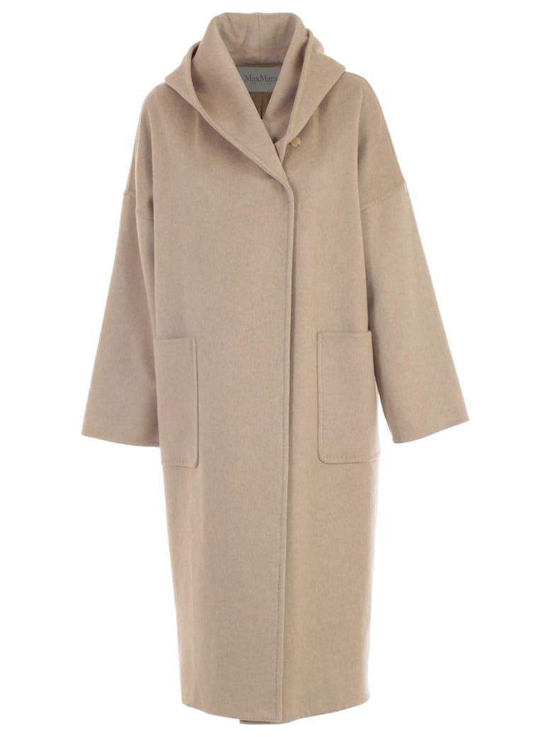 Max Mara Coat Marilyn Double Breasted W/hood And Belt - Casha