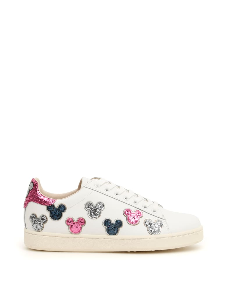 M.O.A. master of arts Leather And Glitter Disney Sneakers - WHITE MULTI (White)