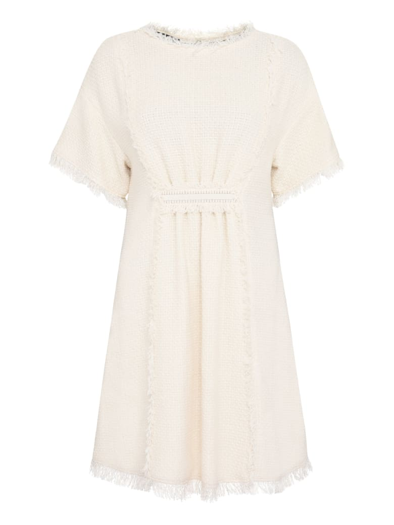 Alberta Ferretti Cotton-blend Dress - panna