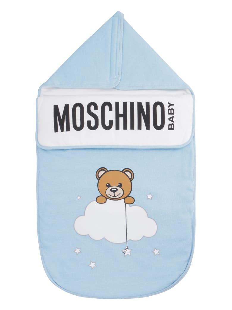 Moschino Padded Footmuff - Blue