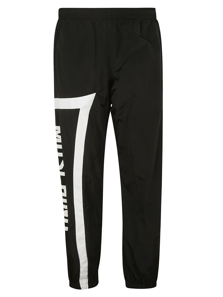 Moschino Side Print Trousers - black