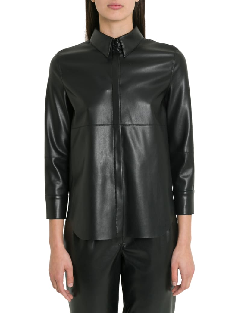 Nanushka Naum Vegan Leather Shirt - Nero