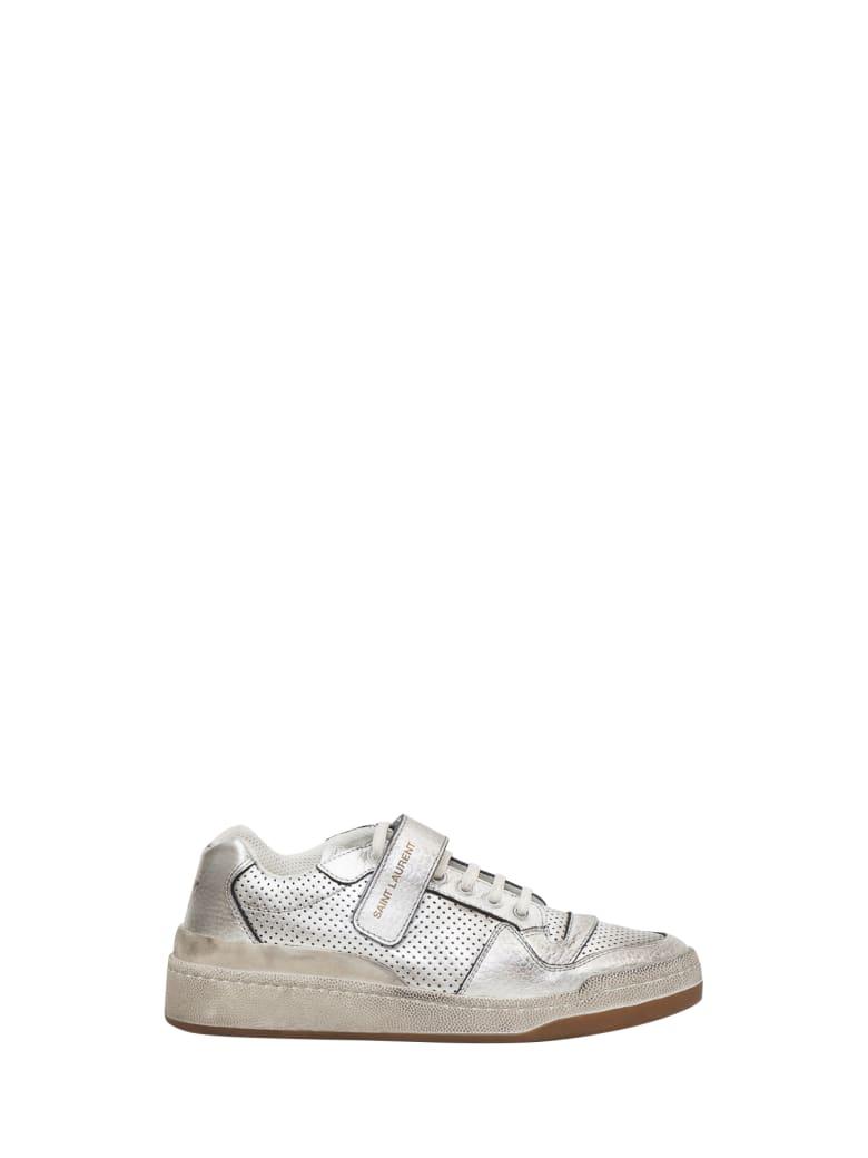 Saint Laurent Sneaker Sl24 Low Top Age - Argento