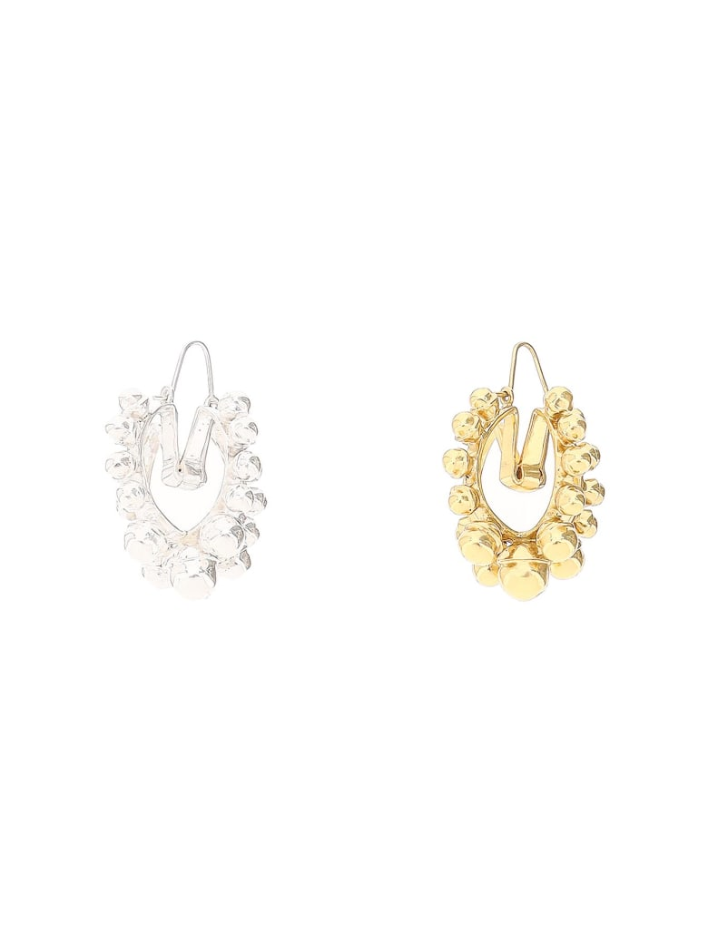 Patou Mismatching Earrings - GOLD SILVER (Gold)