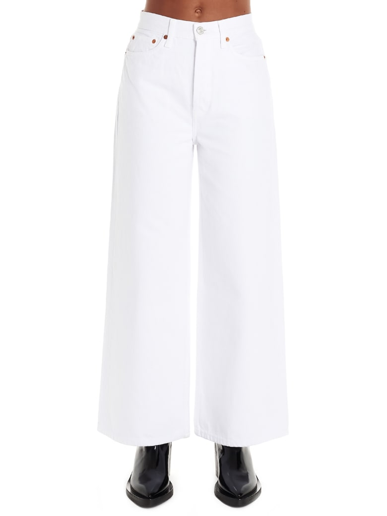 RE/DONE 'extreme Wide Leg' Jeans - White