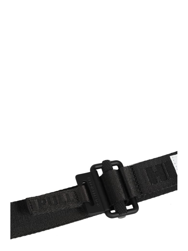 HERON PRESTON Tape Belt 3cm Mini Buckle - Nero