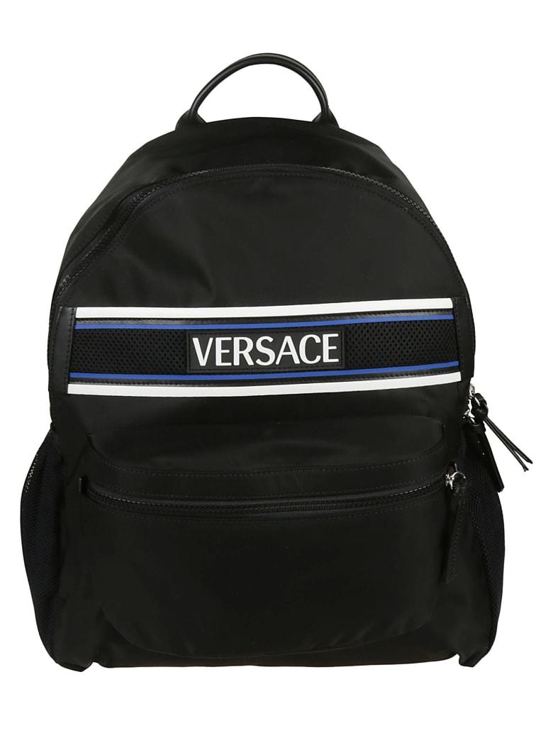 Versace Logo Backpack - black