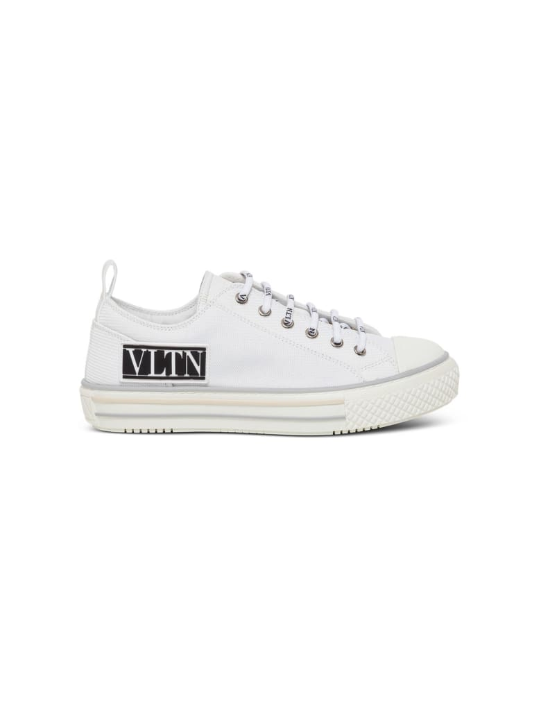 Valentino Garavani Giggies Sneakers In Fabric With Logo - White