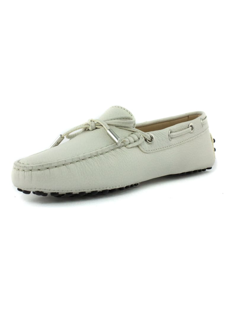 Tod's White Gommino Driving Shoes - Bianco