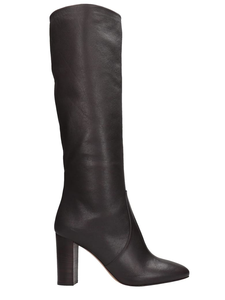 The Seller High Heels Boots In Brown Leather - brown