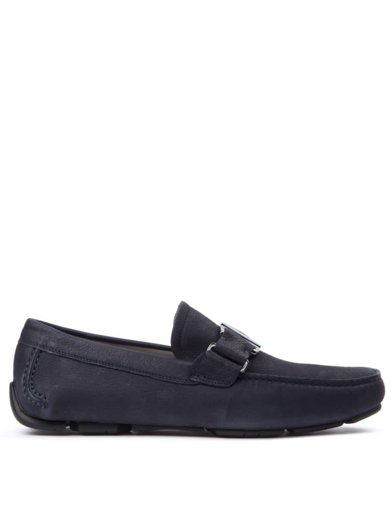 Salvatore Ferragamo Sardegna Blue Leather Loafers - Blue