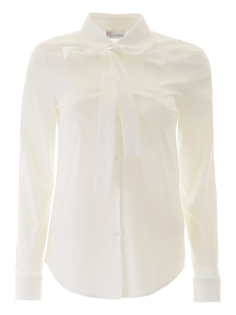 RED Valentino Shirt With Bow - BIANCO (White)