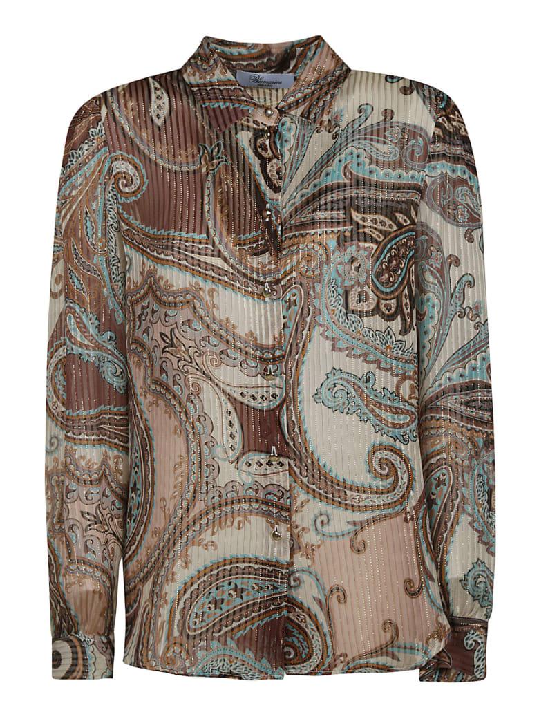 Blumarine Paisley Print Pleated Shirt - Cipria