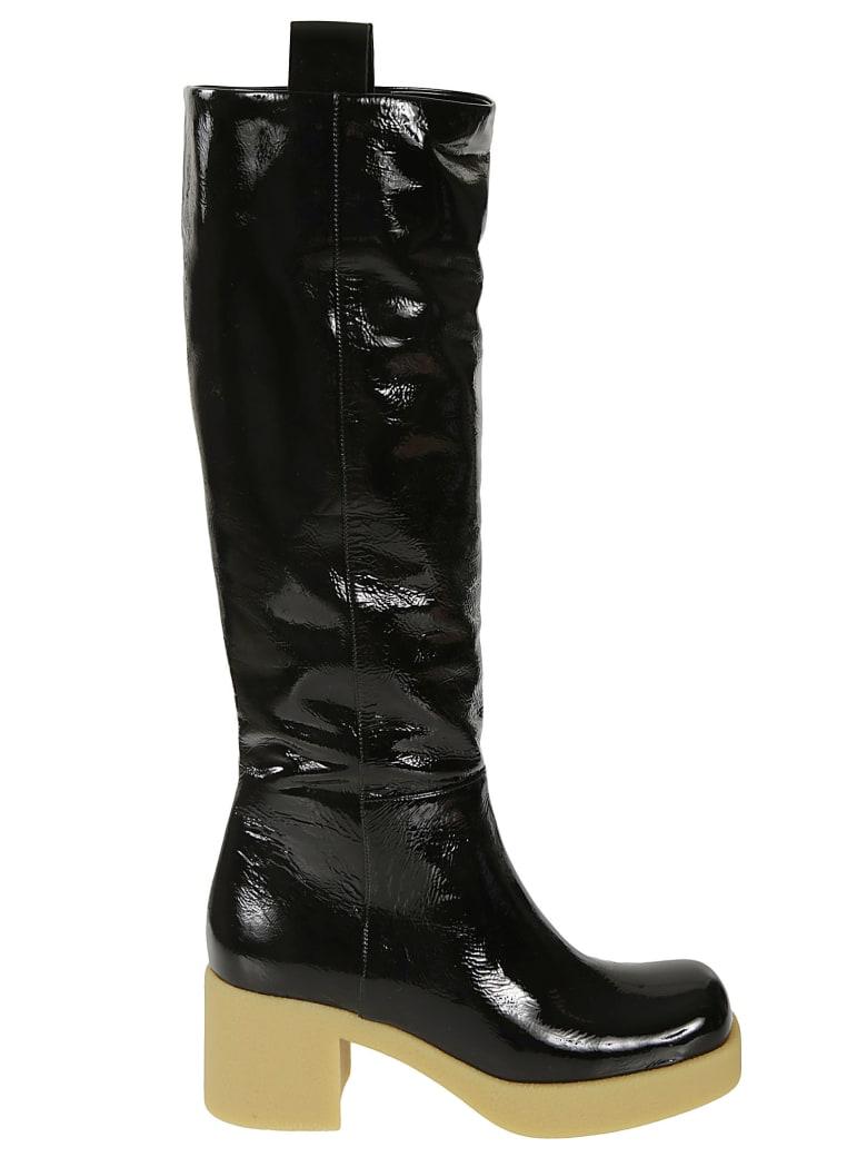 Miu Miu Glossy Over-the-knee Boots - Nero