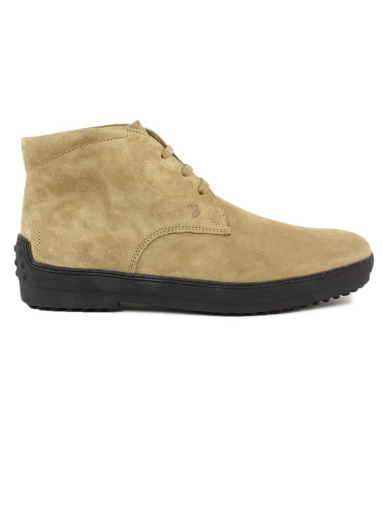 Tod's Desert Boots In Beige Suede - Biscotto