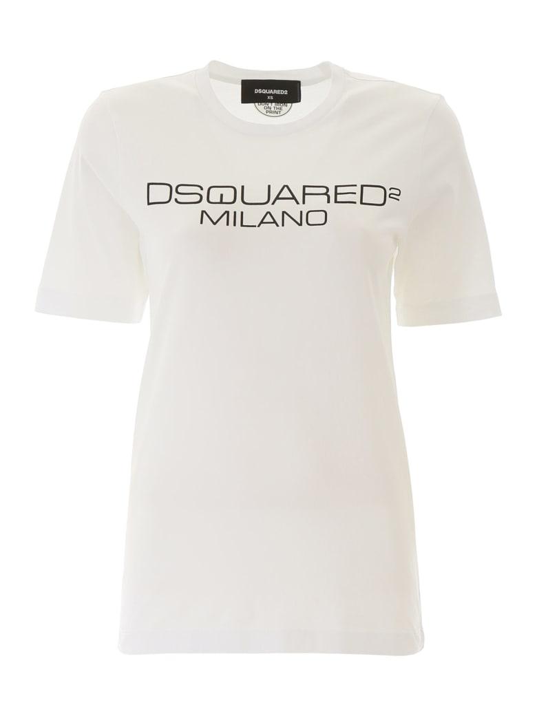 Dsquared2 Milano Print T-shirt - WHITE (White)