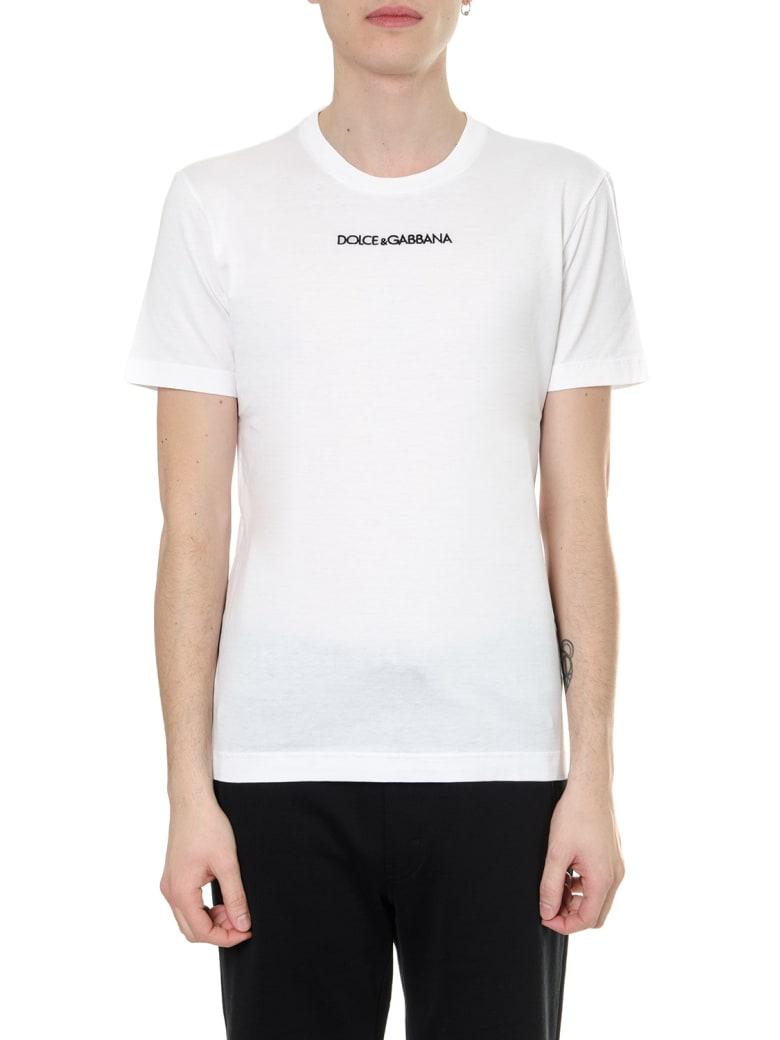 Dolce & Gabbana White Cotton Logo T-shirt - White