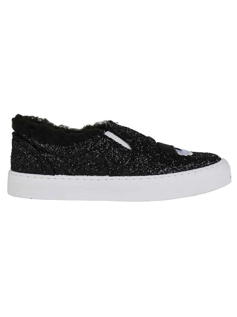Chiara Ferragni Slip On - Glitter black