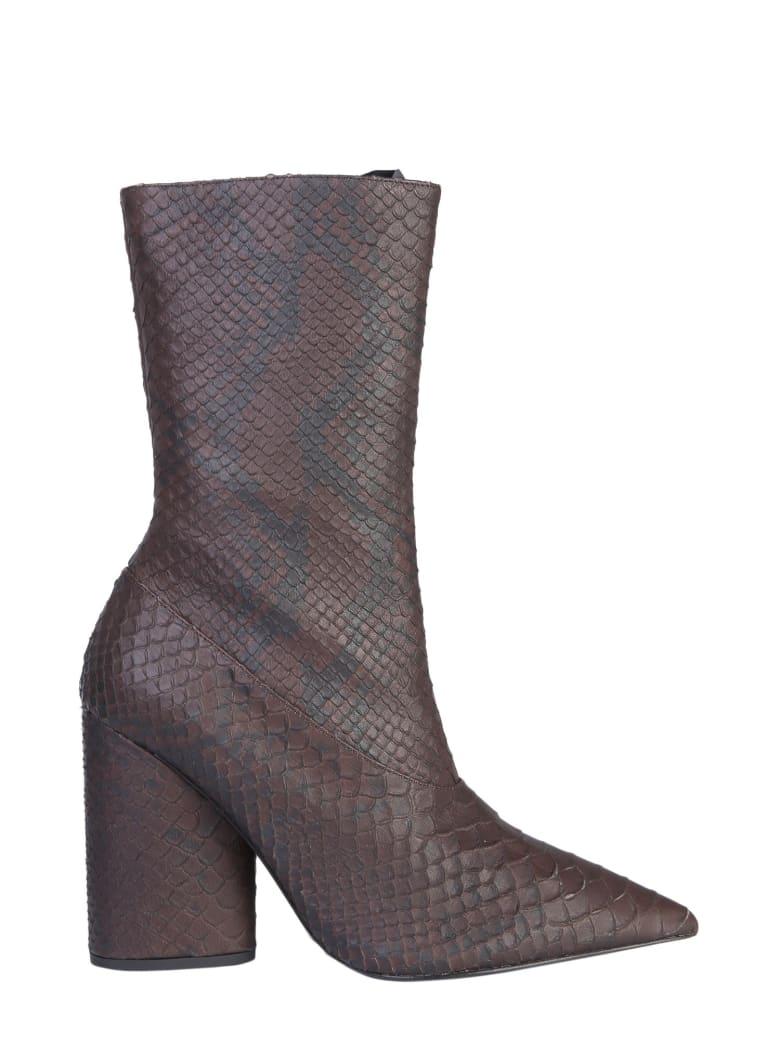 Yeezy Leather Boots - MARRONE