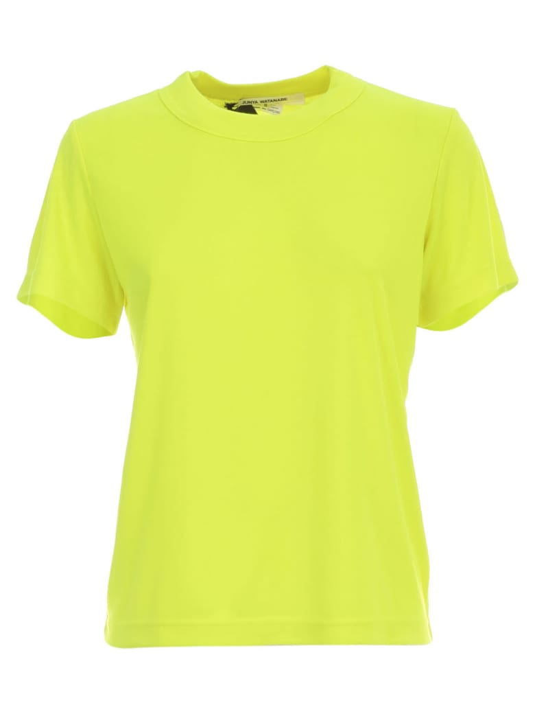 Junya Watanabe Comme Des Garçons S/l Round Neck Tshirt - Neon Yellow