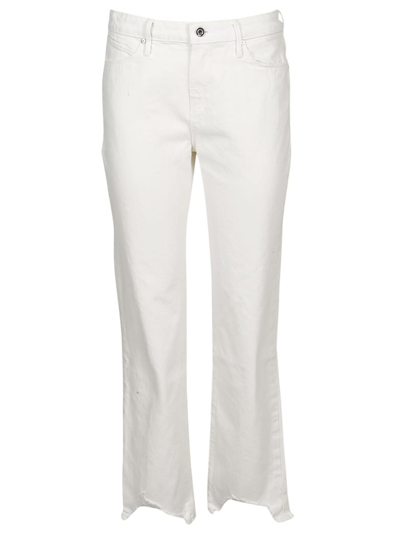 RTA Frayed Cropped Jeans - White
