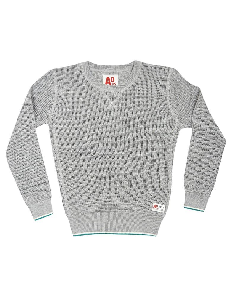 AO76 Ribbed Knit Sweatshirt - Grey