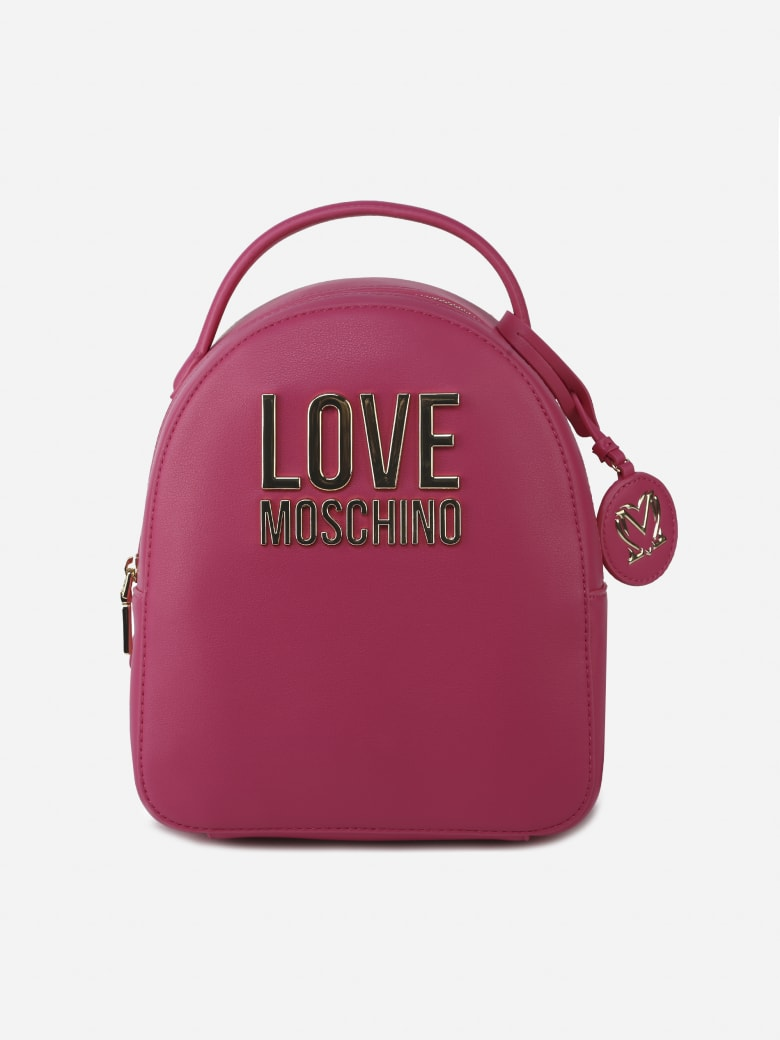 Love Moschino Backpack With Logo Detail - Pink