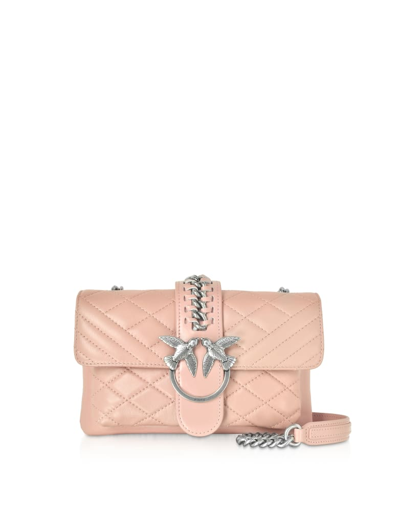 Pinko Mini Love Soft Mix Crossbody Bag - Pale Pink