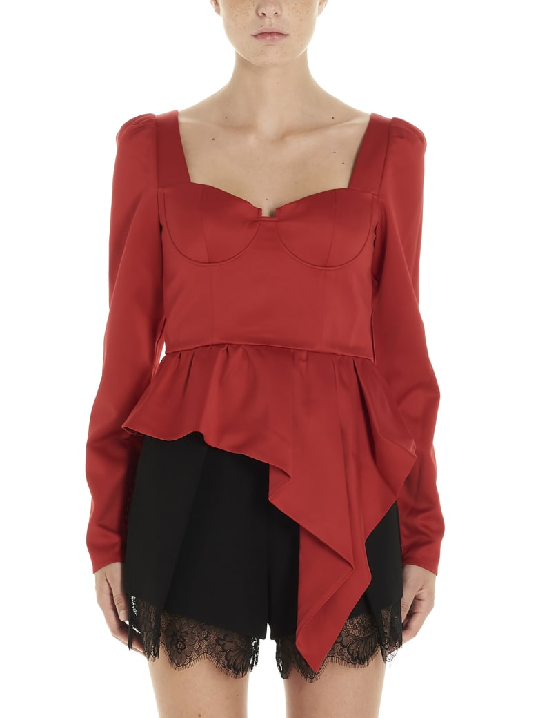 self-portrait Top - Red