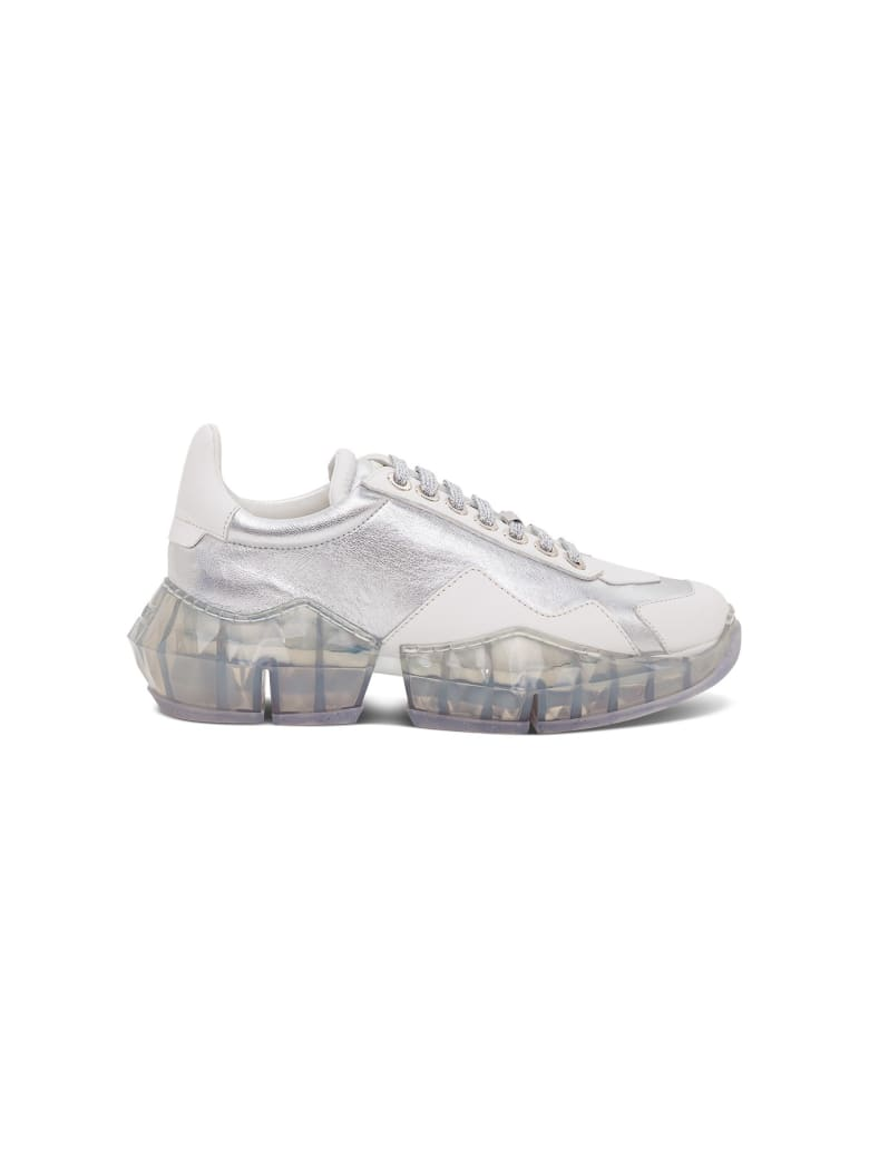 Jimmy Choo Diamond Flak Sneakers - White