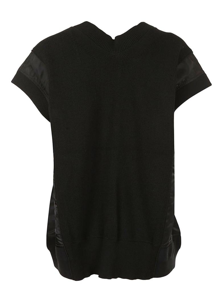 Sacai Knit X Nylon Twill Pullover - 001