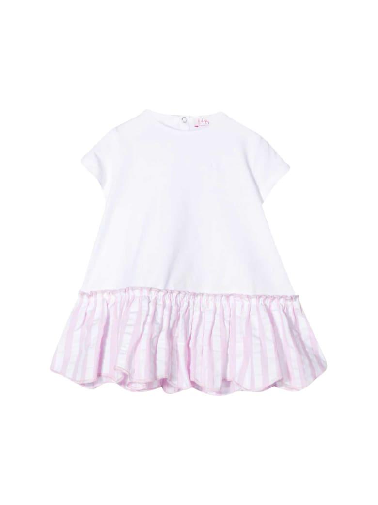 Il Gufo Striped Dress - Bianco/rosa