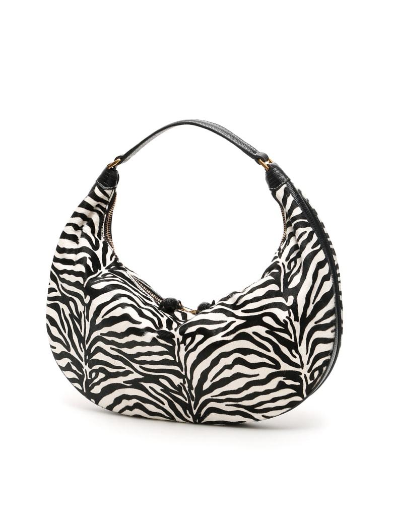 STAUD Sasha Zebra Print Hobo Bag - ZEBRA PRINT (White)