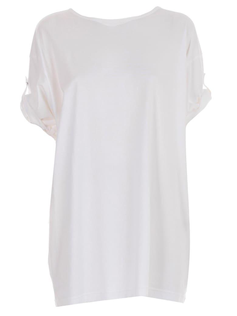 Y's Turn Up Cuff T-shirt - White