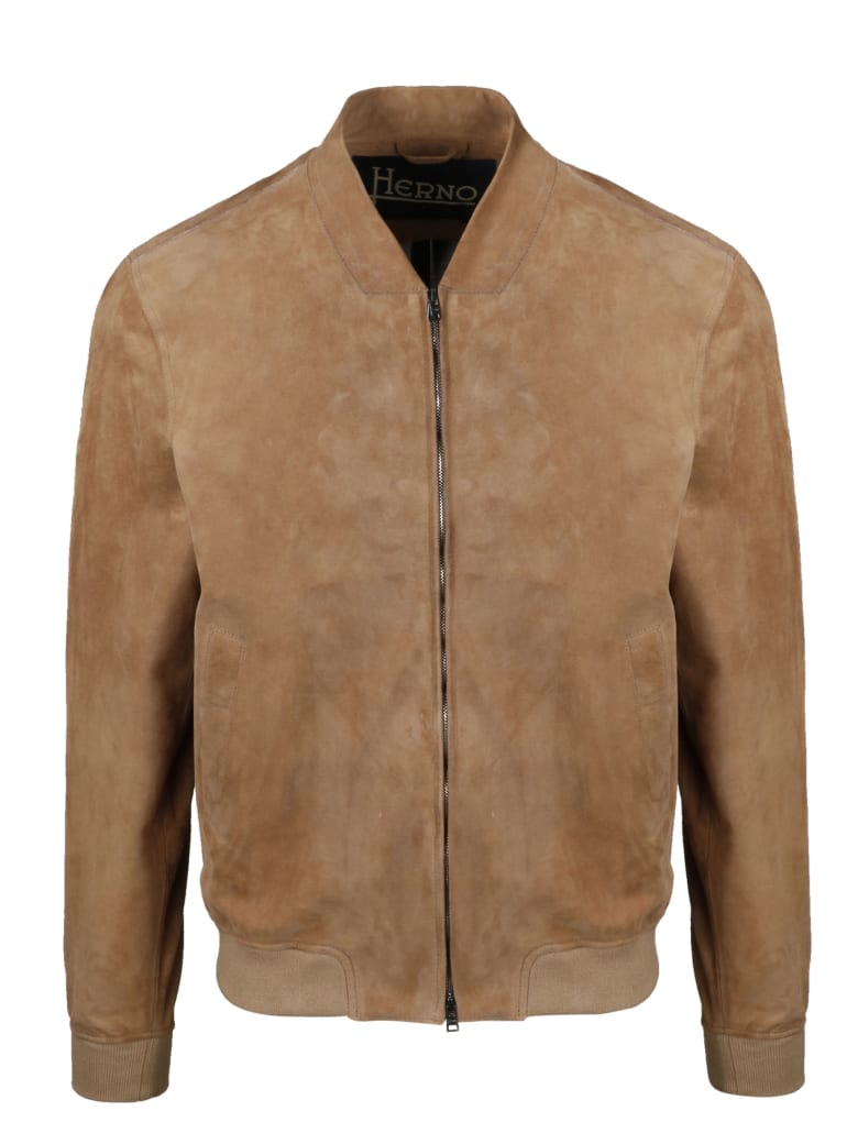Herno Suede Bomber - Brown
