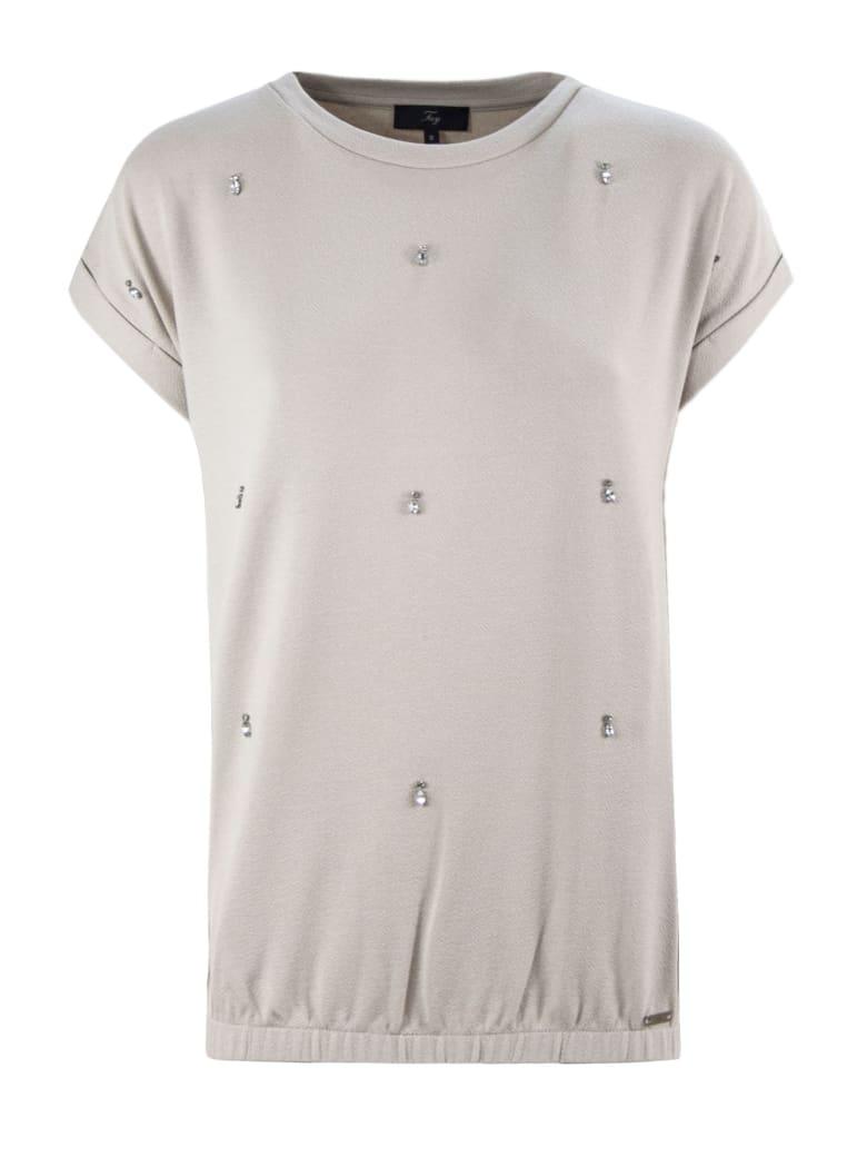 Fay Beige Jewel T-shirt - Beige