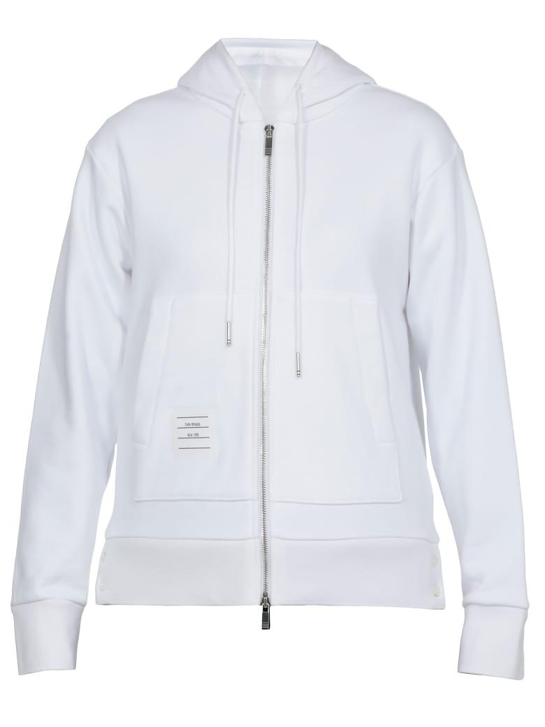 Thom Browne Classic Loopback Sweatshirt - WHITE