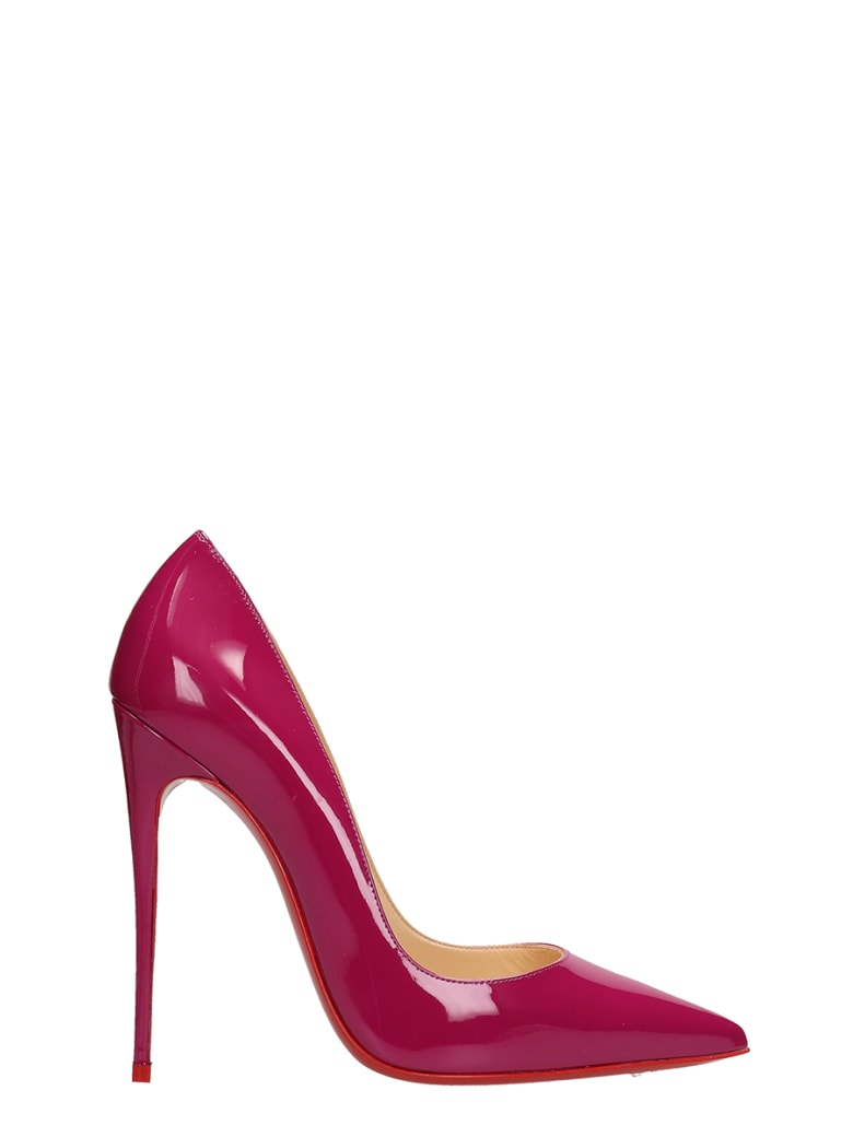 san francisco f737f 47bf8 Best price on the market at italist | Christian Louboutin Christian  Louboutin So Kate 120 Kiki Patent Leather Pumps