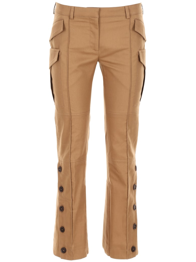 Rokh Cropped Trousers - CAMEL (Khaki)